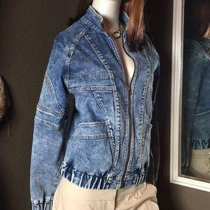 NEW Liverpool Zip Up Denim Jean Jacket Size Small